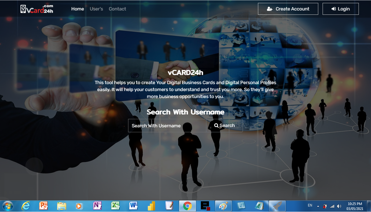 Create digital visit card and digital profile - Marketing tool