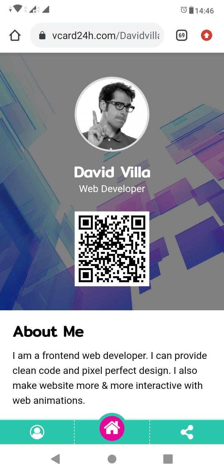 Tool to create a digital business card and portfolio