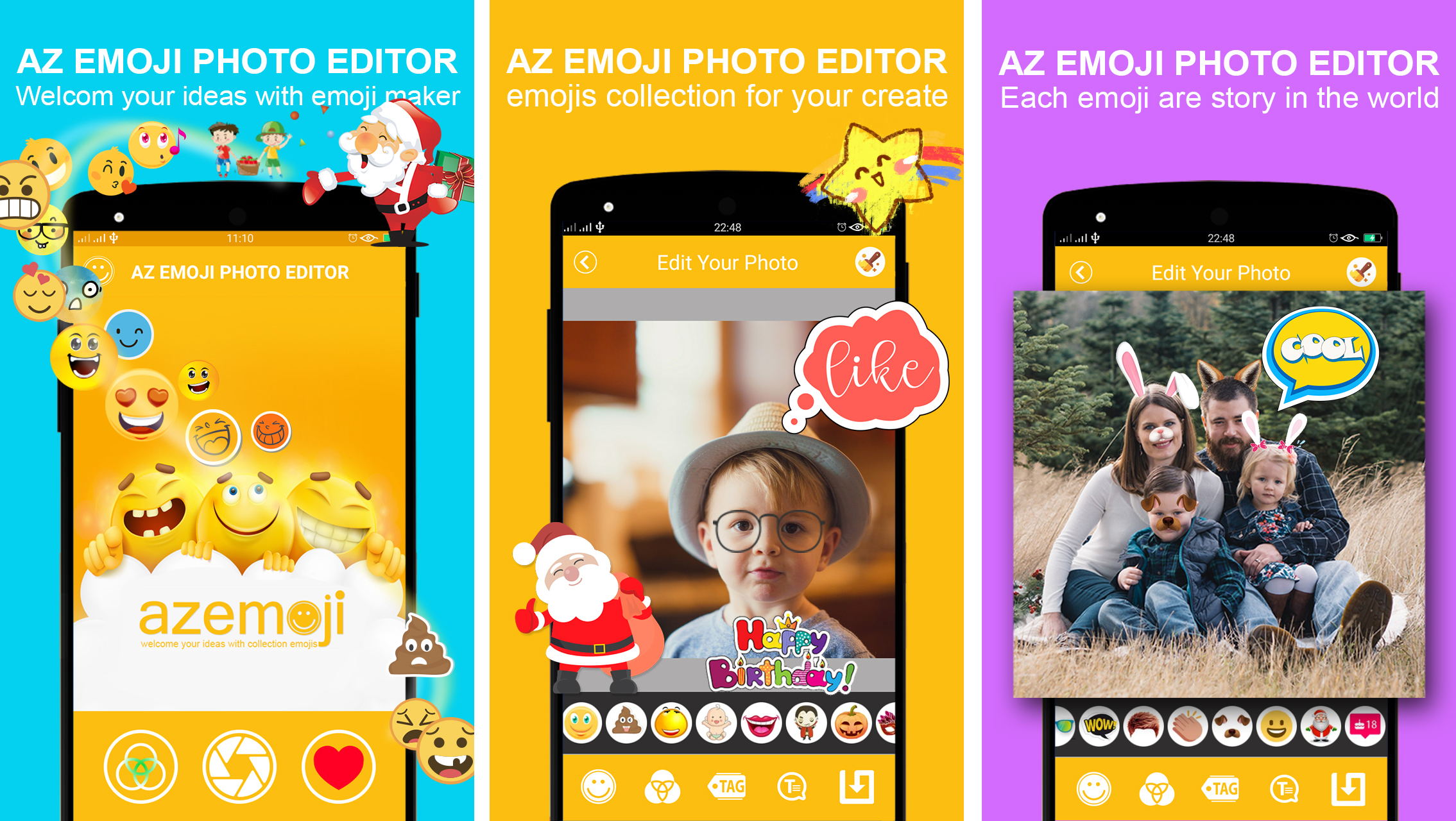 Sell photo editor sticker emoji android app with admob