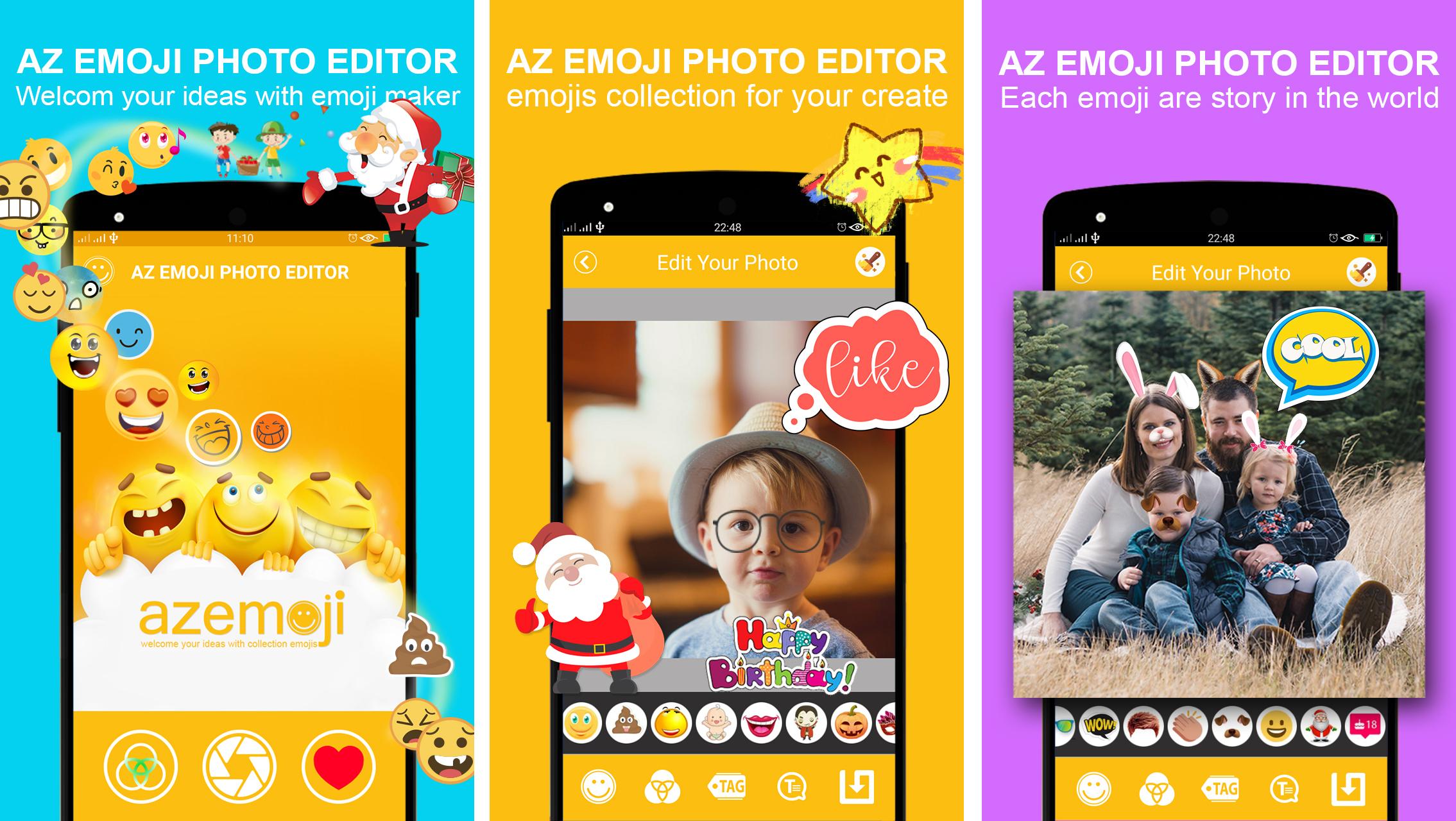 send editor sticker emoji android app with admob