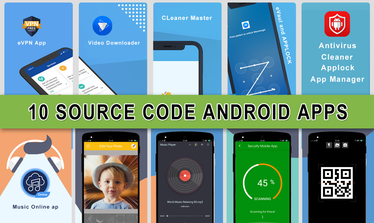 Selling source code android with bundle 10 source app Android