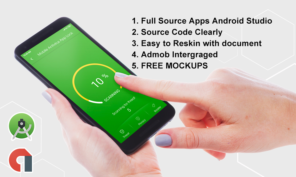 Antivirus,  AppLock,  Cleaner,  App Manager Android App with Admob