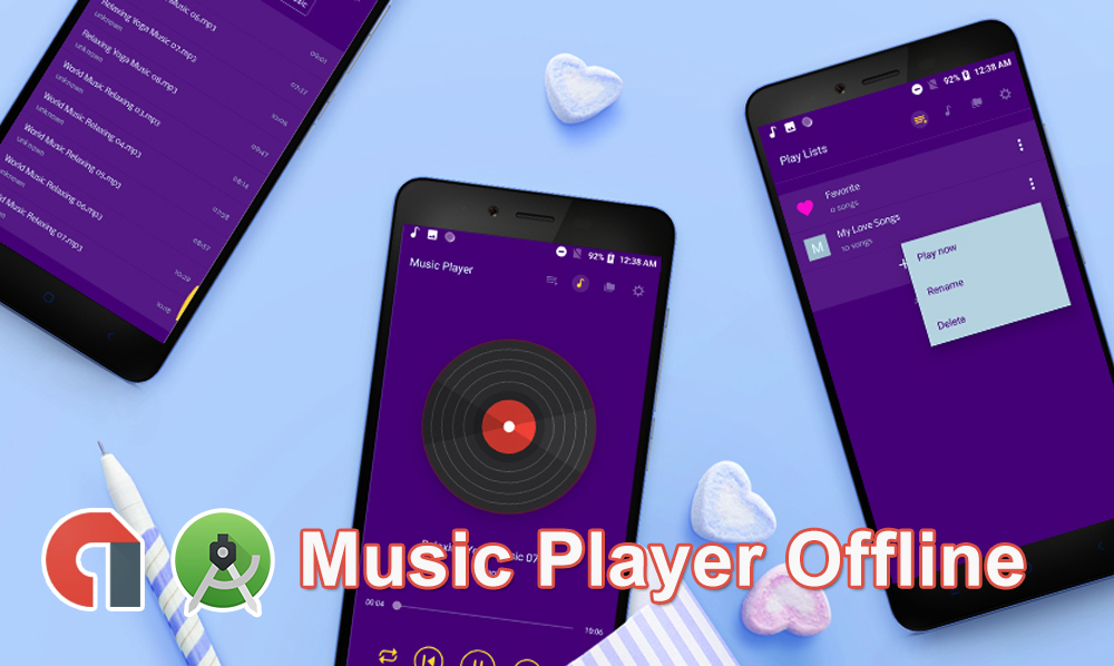 Music Player Offline Android App Source Code with admob