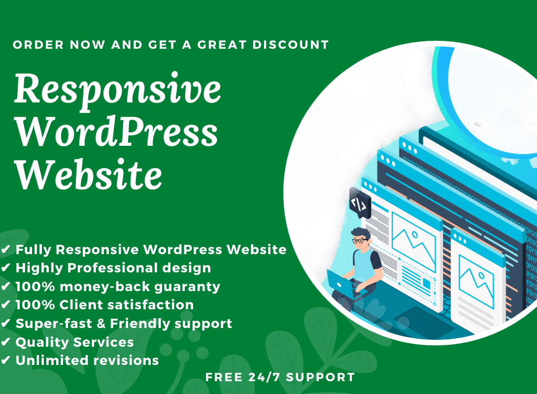 I will build responsive WordPress website design for your business