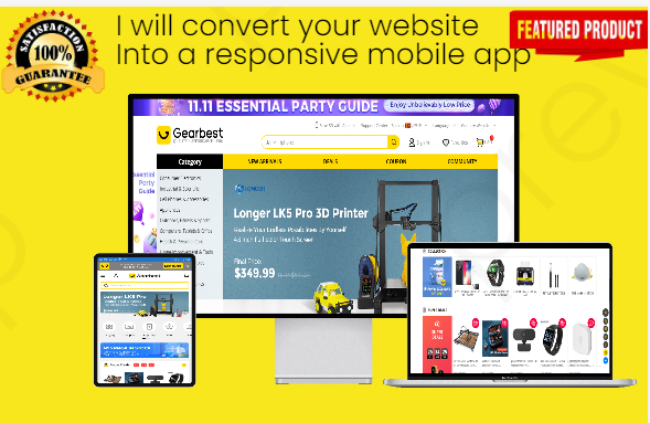 I will convert your websites/ blogs into responsive smart android mobile apps.