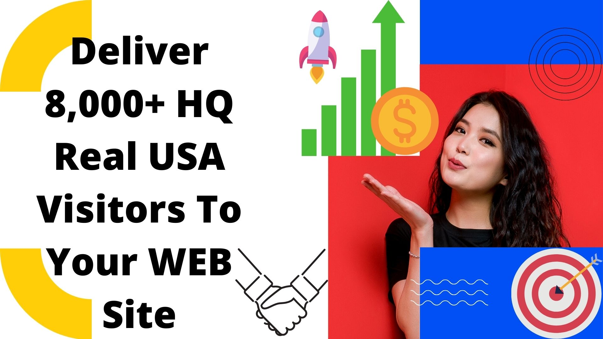 Deliver 8,000+ HQ Real USA Visitors To Your WEB Site