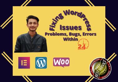 I will fix WordPress issues,  WordPress website errors or Problems