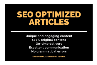 I Will Create 1000 plus words ARTICLE or BLOG Writing- SEO Optimized