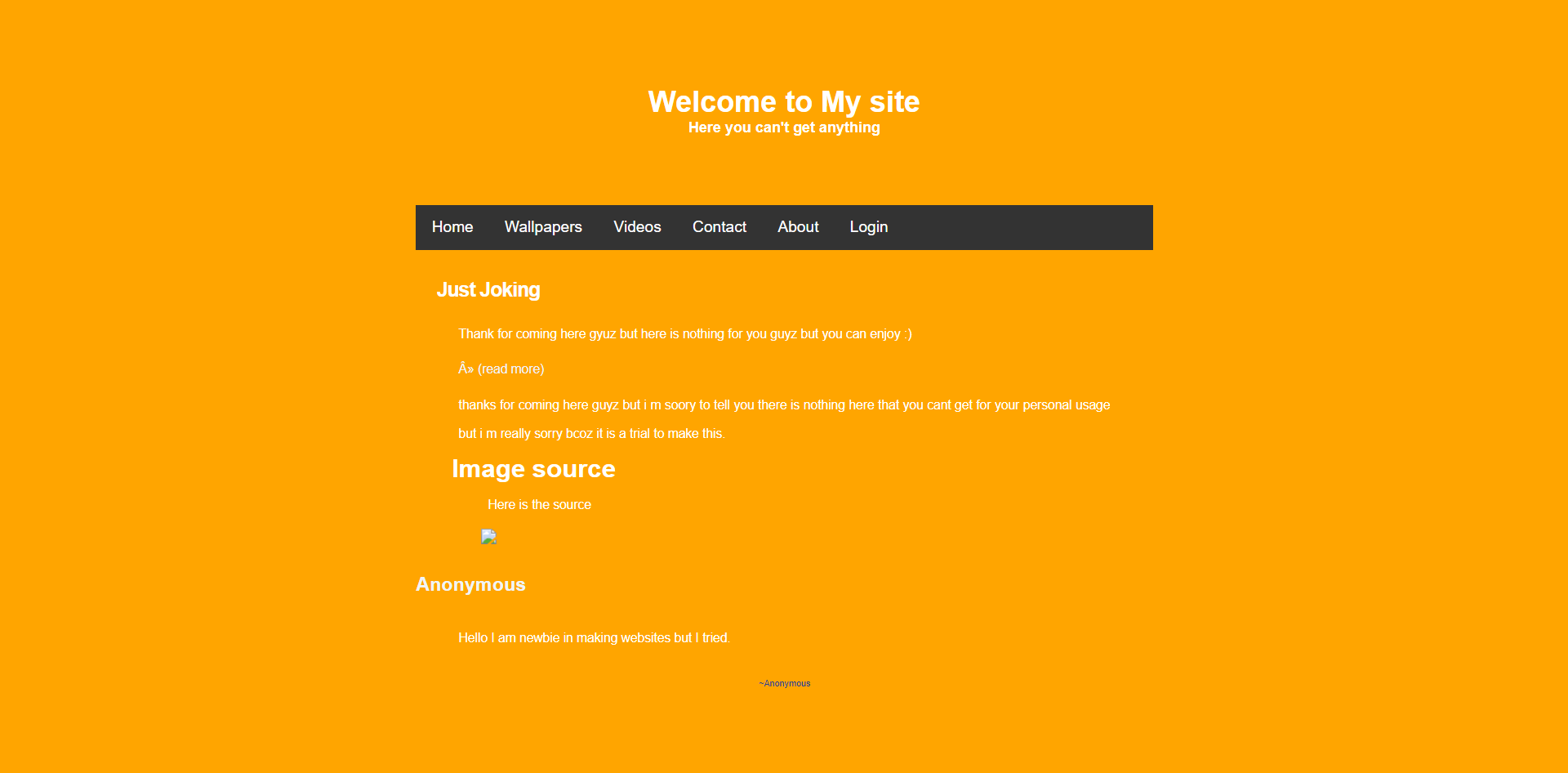 Simple Web Pages FrontEnd and a little BackEnd easy