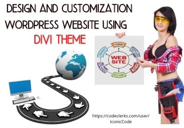 design and customization wordpress website using divi theme