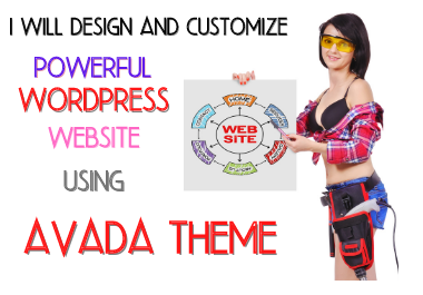 Design your wordpress website using avada theme