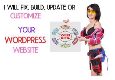 I will build,  Update,  Fix,  or Customize your website in WordPress with a beautiful interface