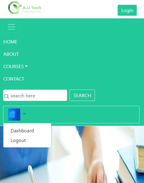Responsive landing website page