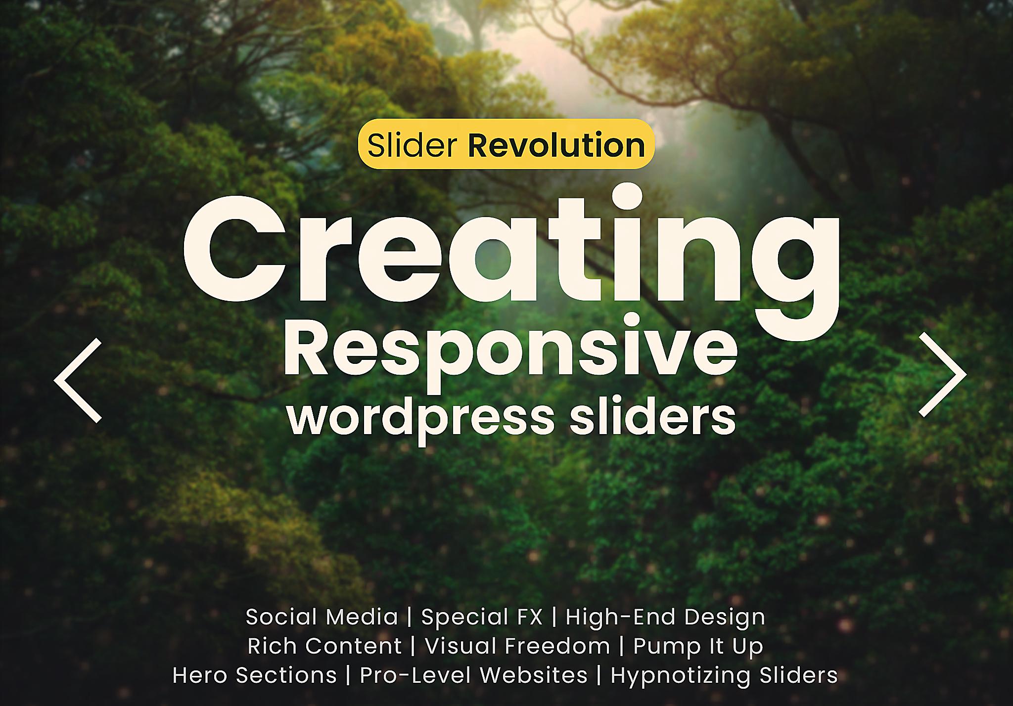 Creating responsive WordPress sliders using Slider Revolution
