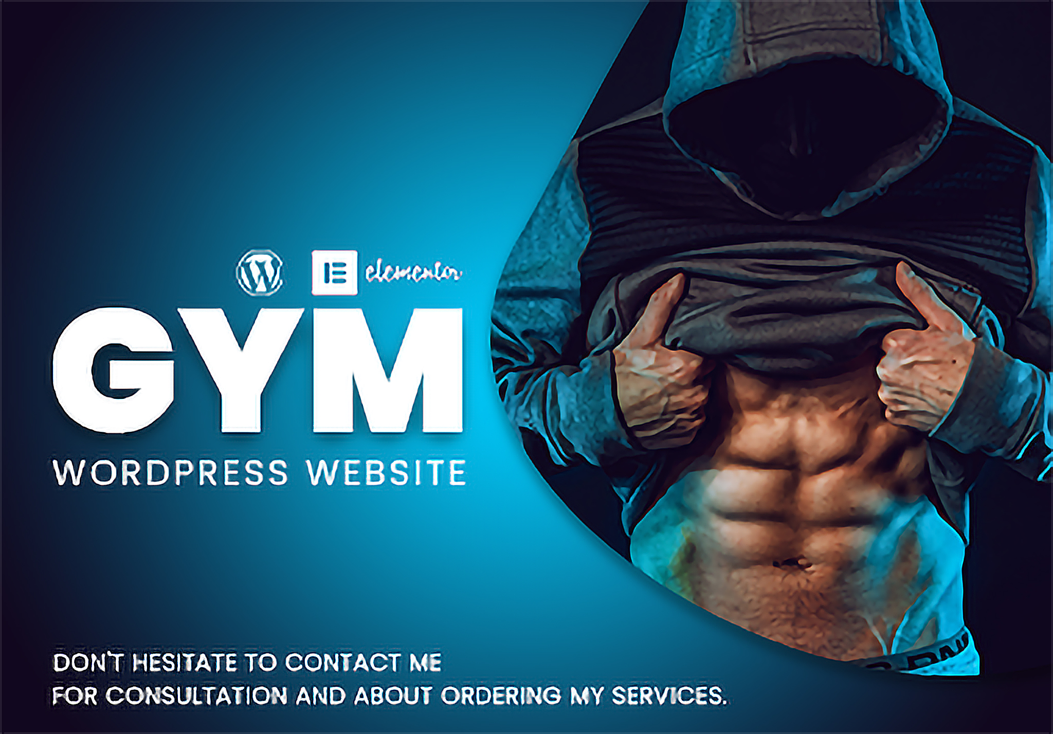 One page responsive GYM wordpress website using elementor page builder