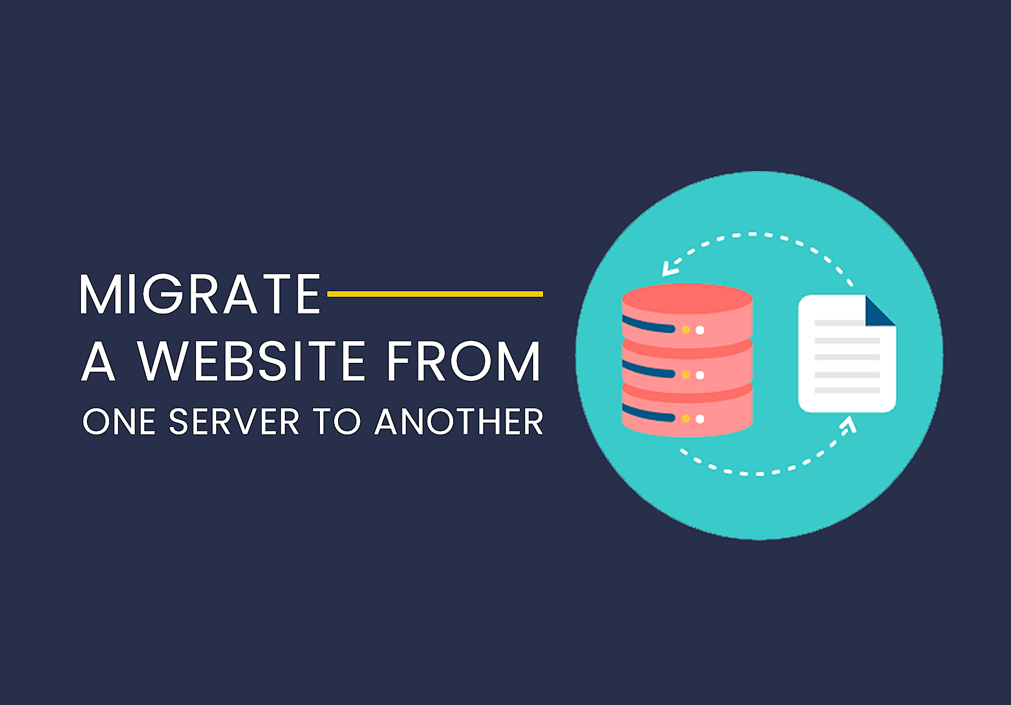 Migrate a website from one server to another