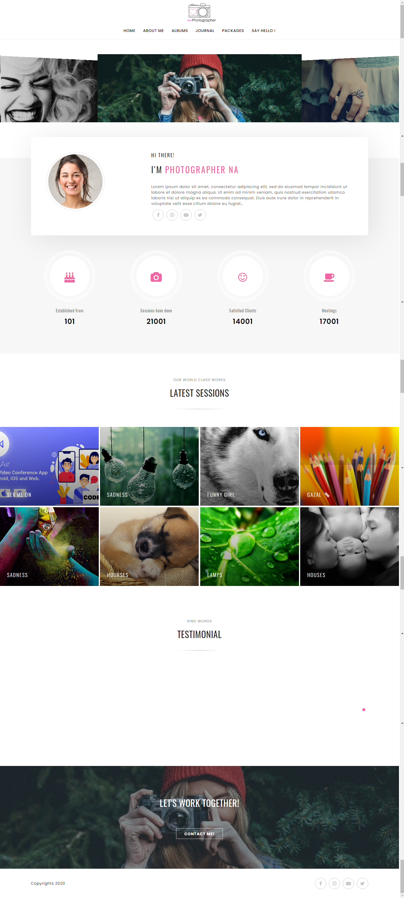Image Website with Admin Panel