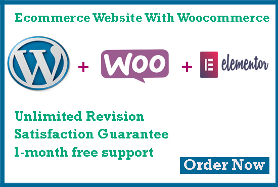 I will build wordpress website,  ecommerce website with woocommerce