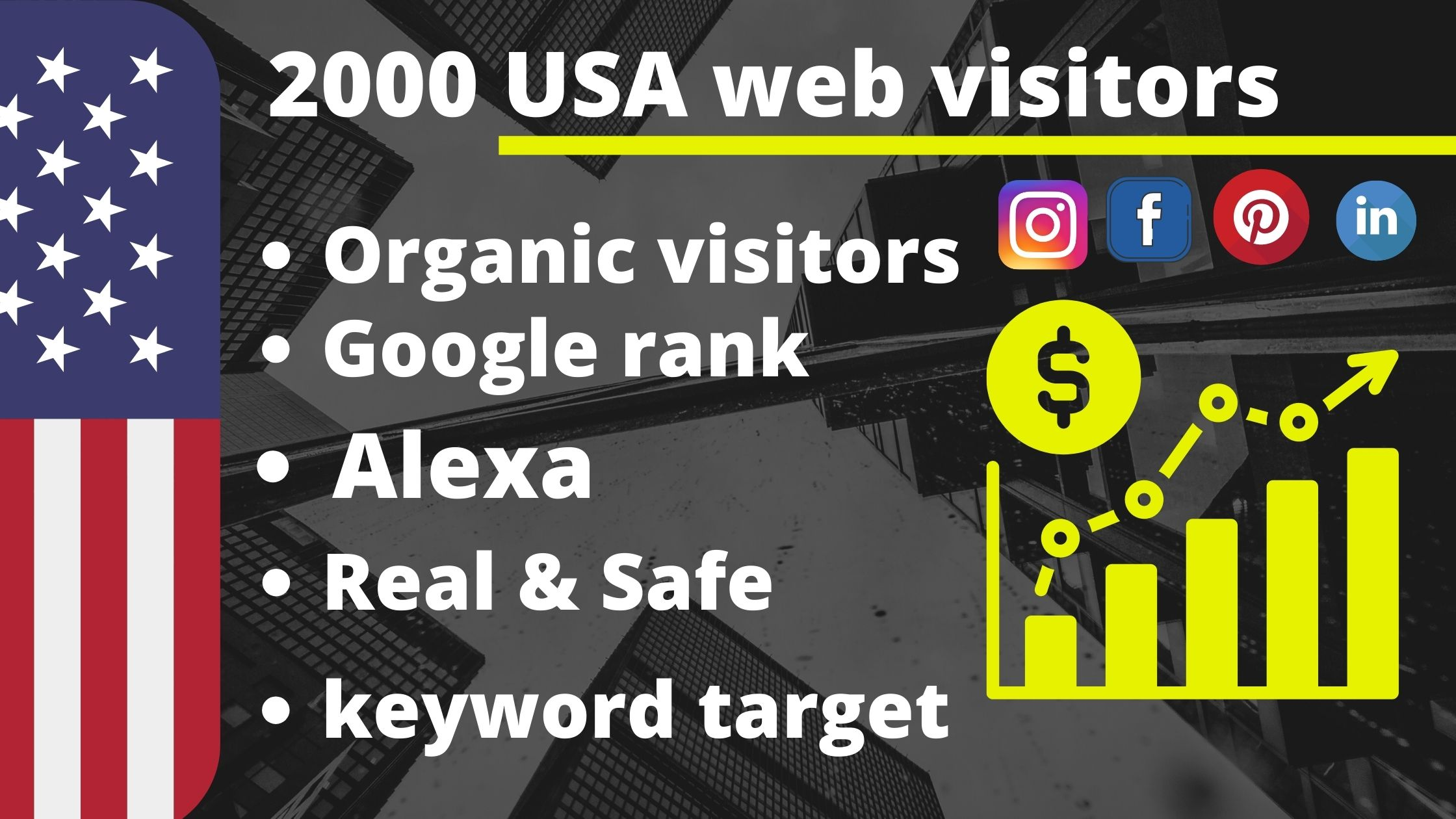 Drive keyword target only USA 2000 traffic for your website