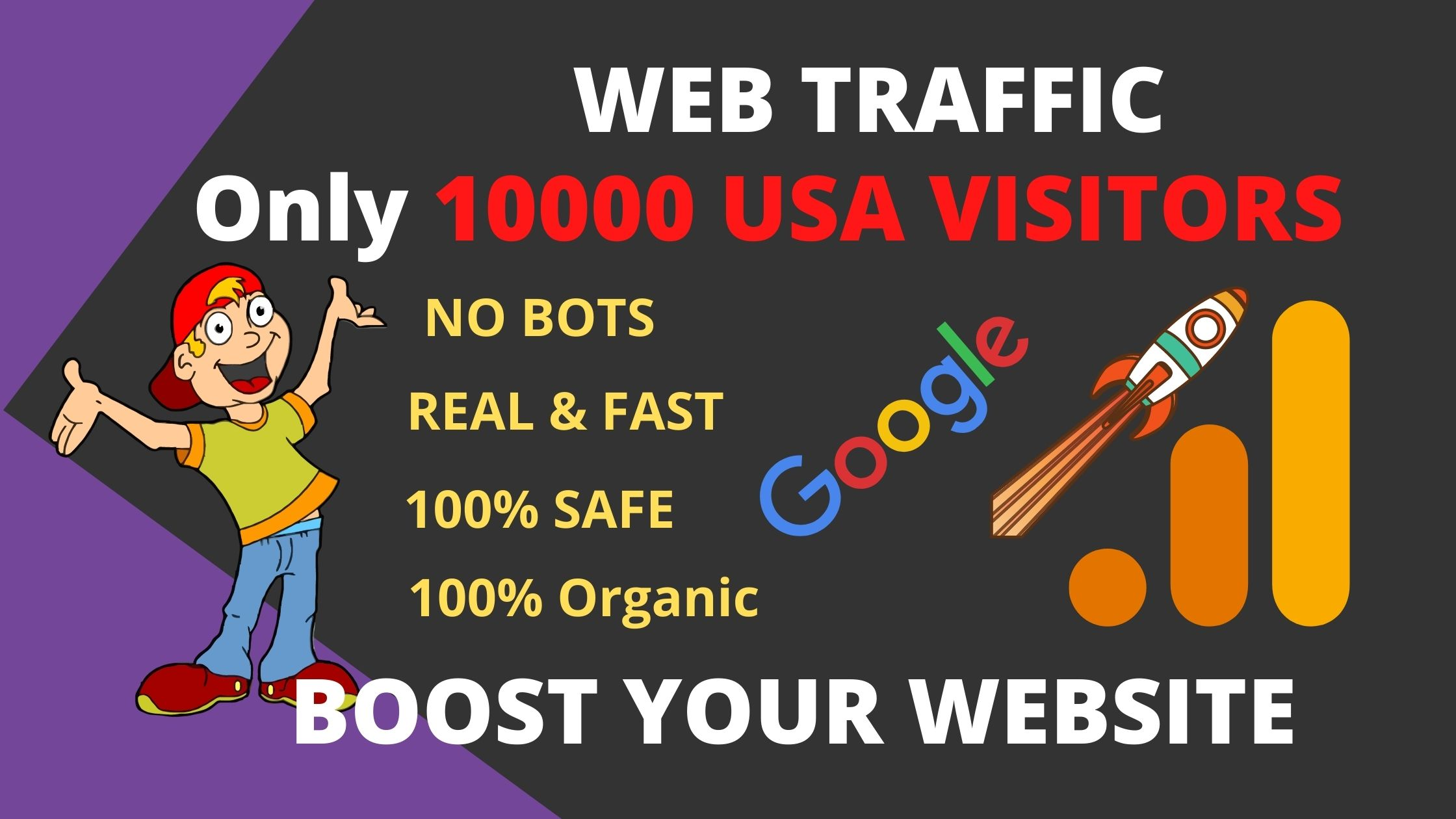Drive nich target 10000 only USA visitors for your website