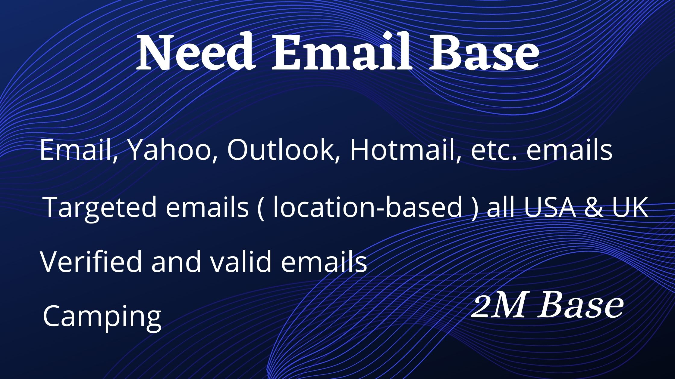 Target email data base for your business