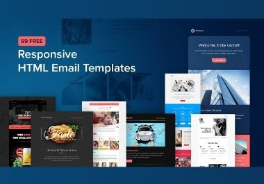 I Will Design HTML Email Template, Newsletter & Email Signature For Any Country