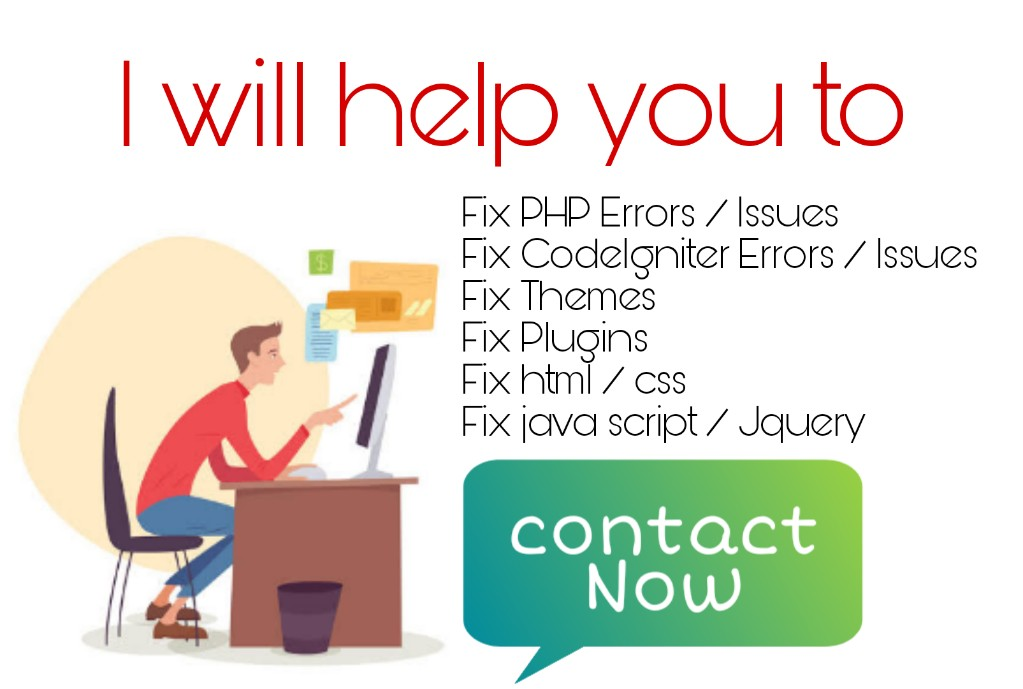 Develop and Fix your website in PHP Codeigniter