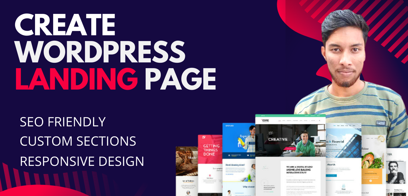 I will create Professional Responsive Wordpress/HTML Landing Page Website