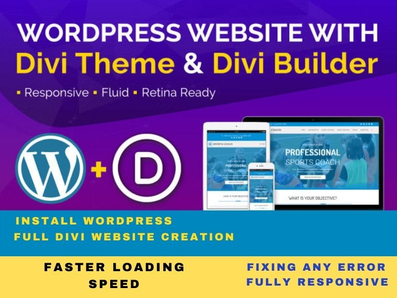 I will design divi wordpress website using divi builder or theme