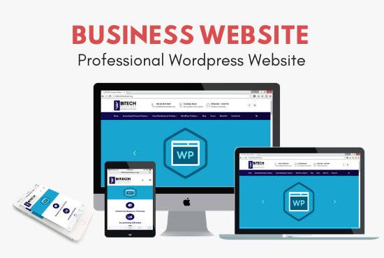 I will create business wordpress website design