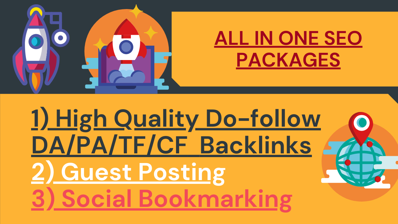 100 High Quality DA,PA, Do-follow Backlinks setup for Boost Your Site