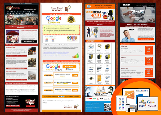 I will design professional promotional HTML email template