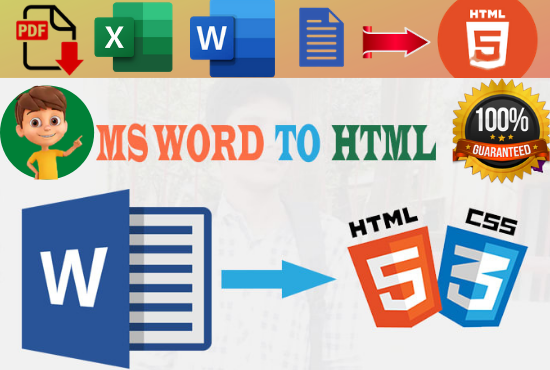 I will convert your files to HTML format