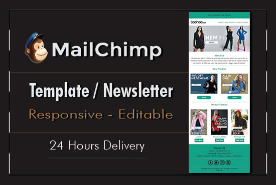I will create editable HTML email template/ Newsletter