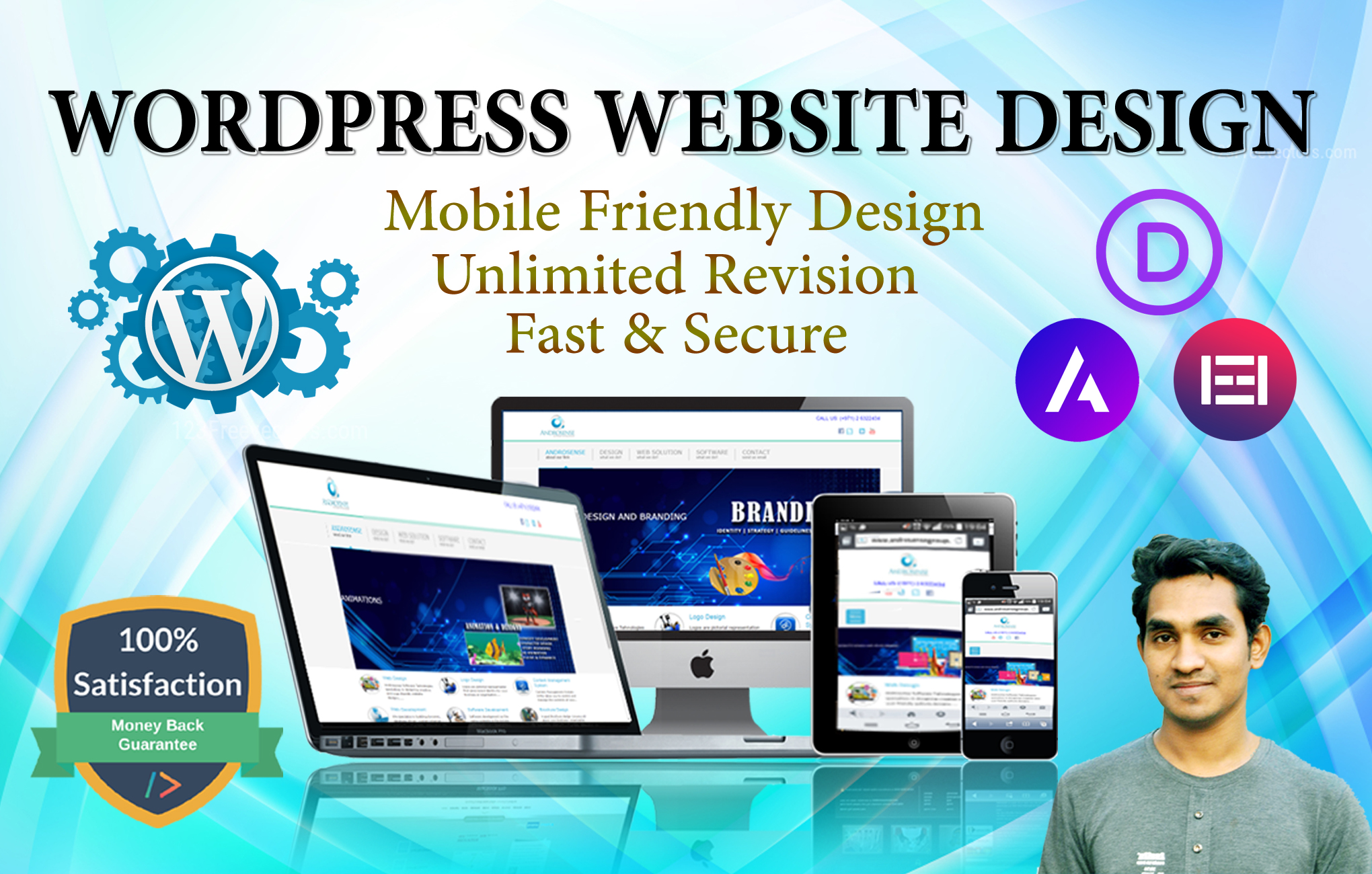 I will build a professional website on wordpress