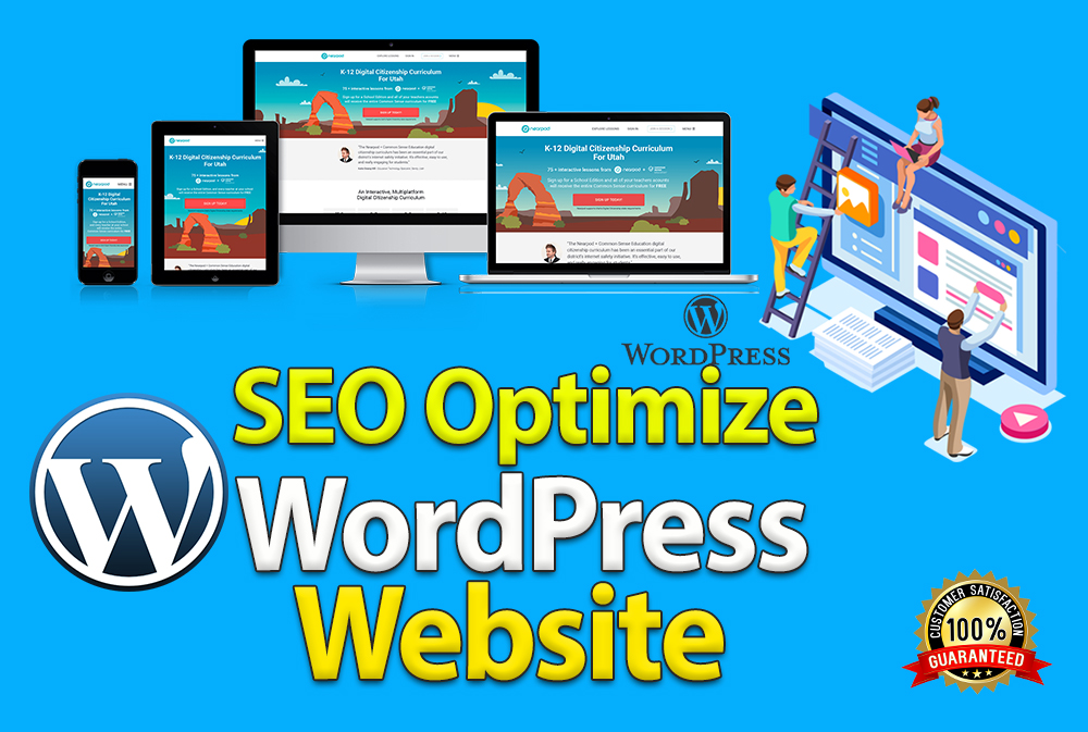 I will create Professional WordPress website with SEO Optimize