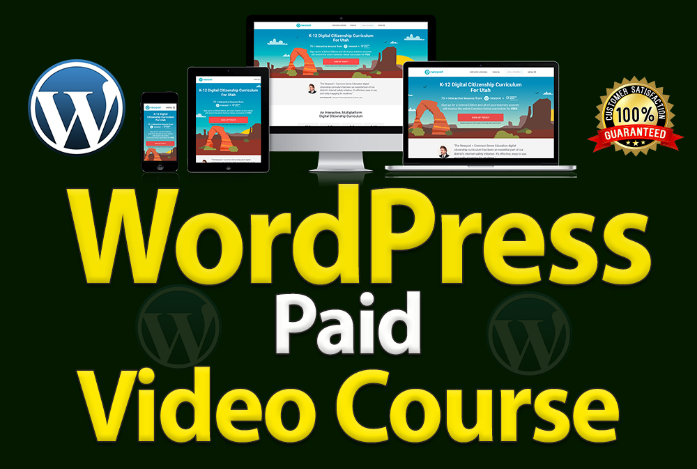 Professional WordPress paid video tutorials course