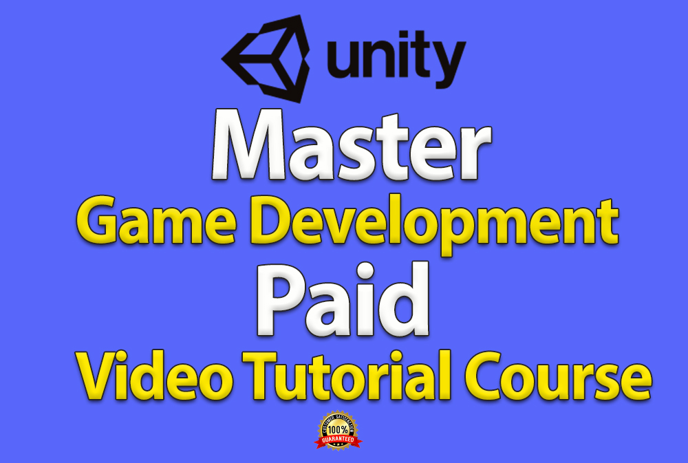 I will give you Professional Game Development Video Tutorial Course