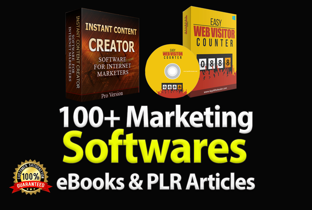 I will give you 115 ready to use internet marketing software's with plr
