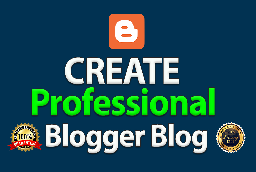 I will create professional blogger blog with free theme