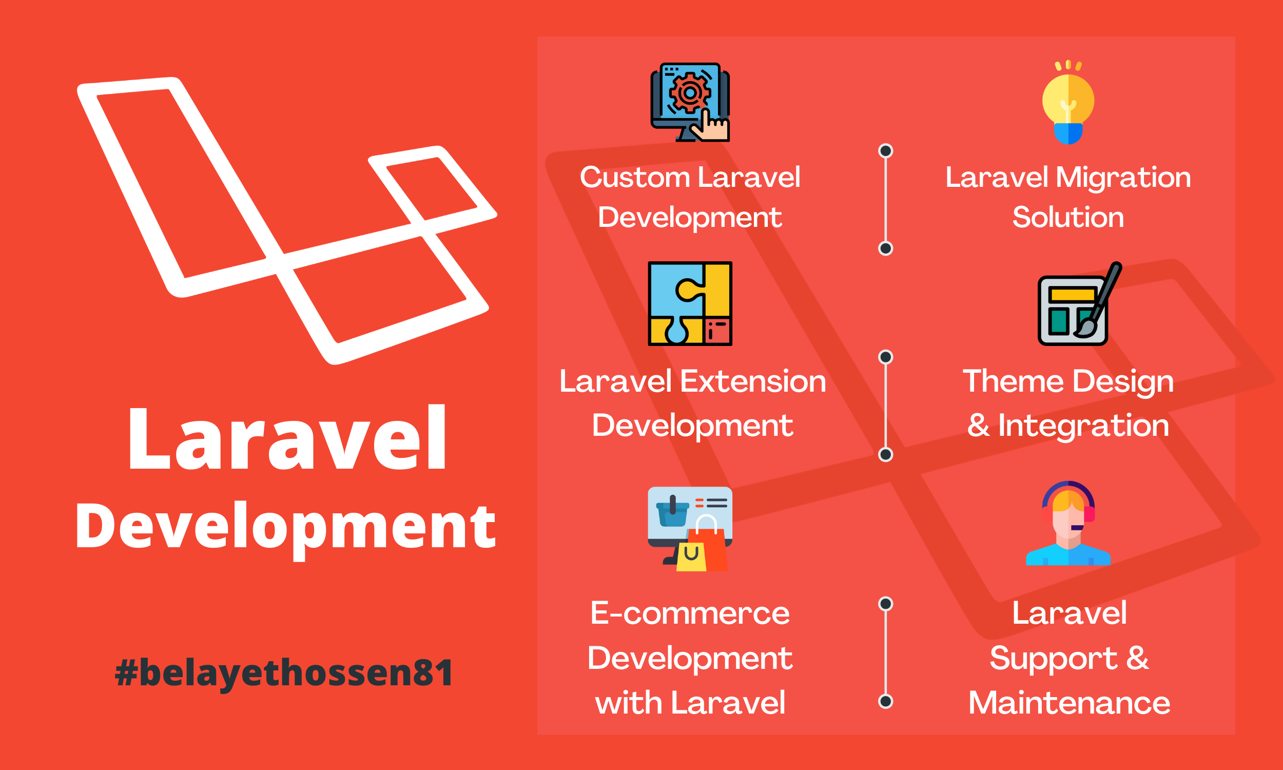 I will do PHP laravel web application development with custom design