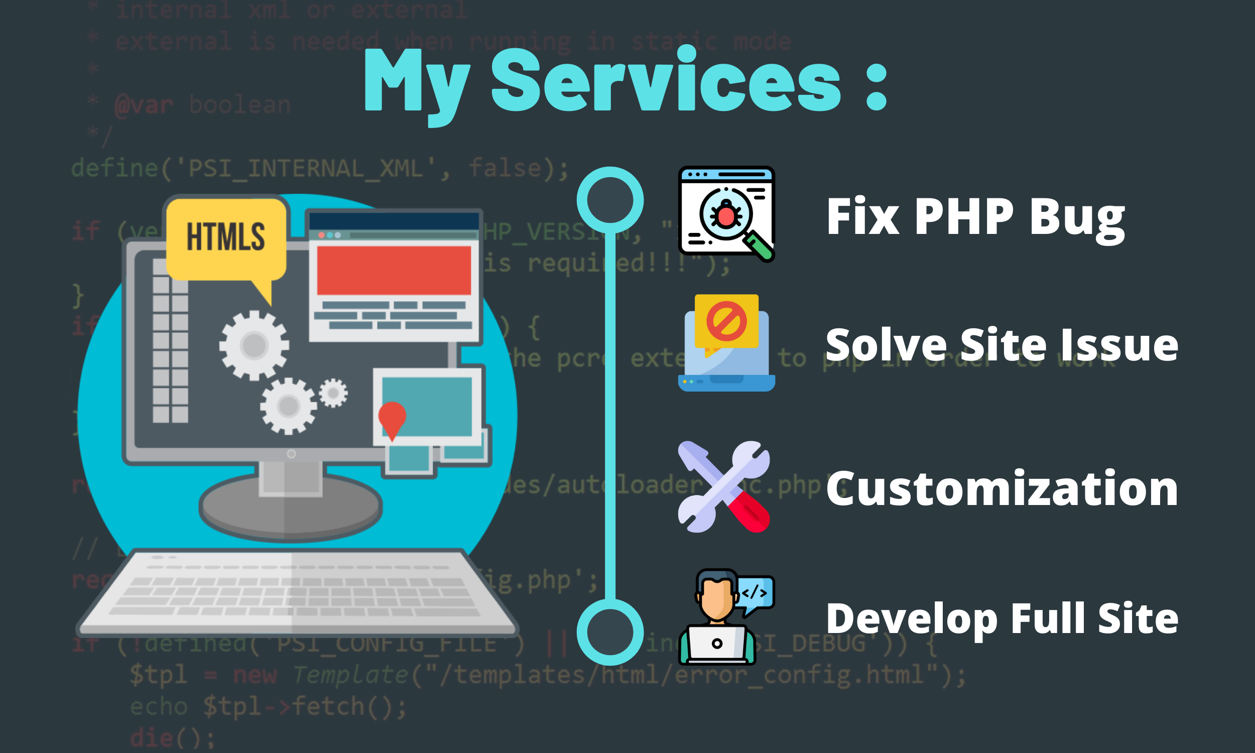 I will create PHP web application, build website and fix error