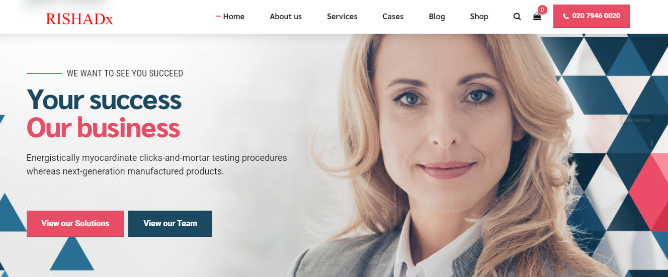 I will build business consulting website with booking functionalities