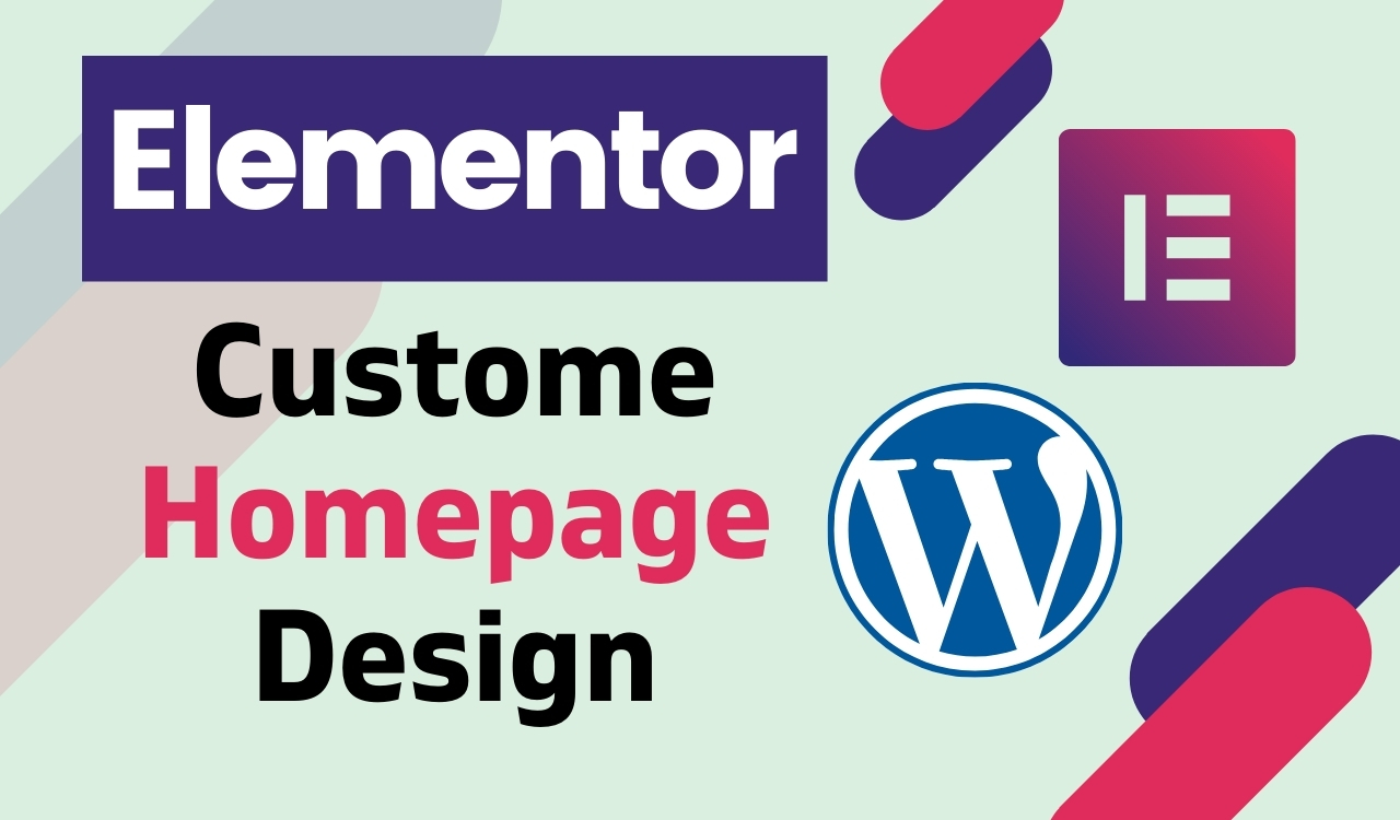 I will design awesome custom homepage design with elementor