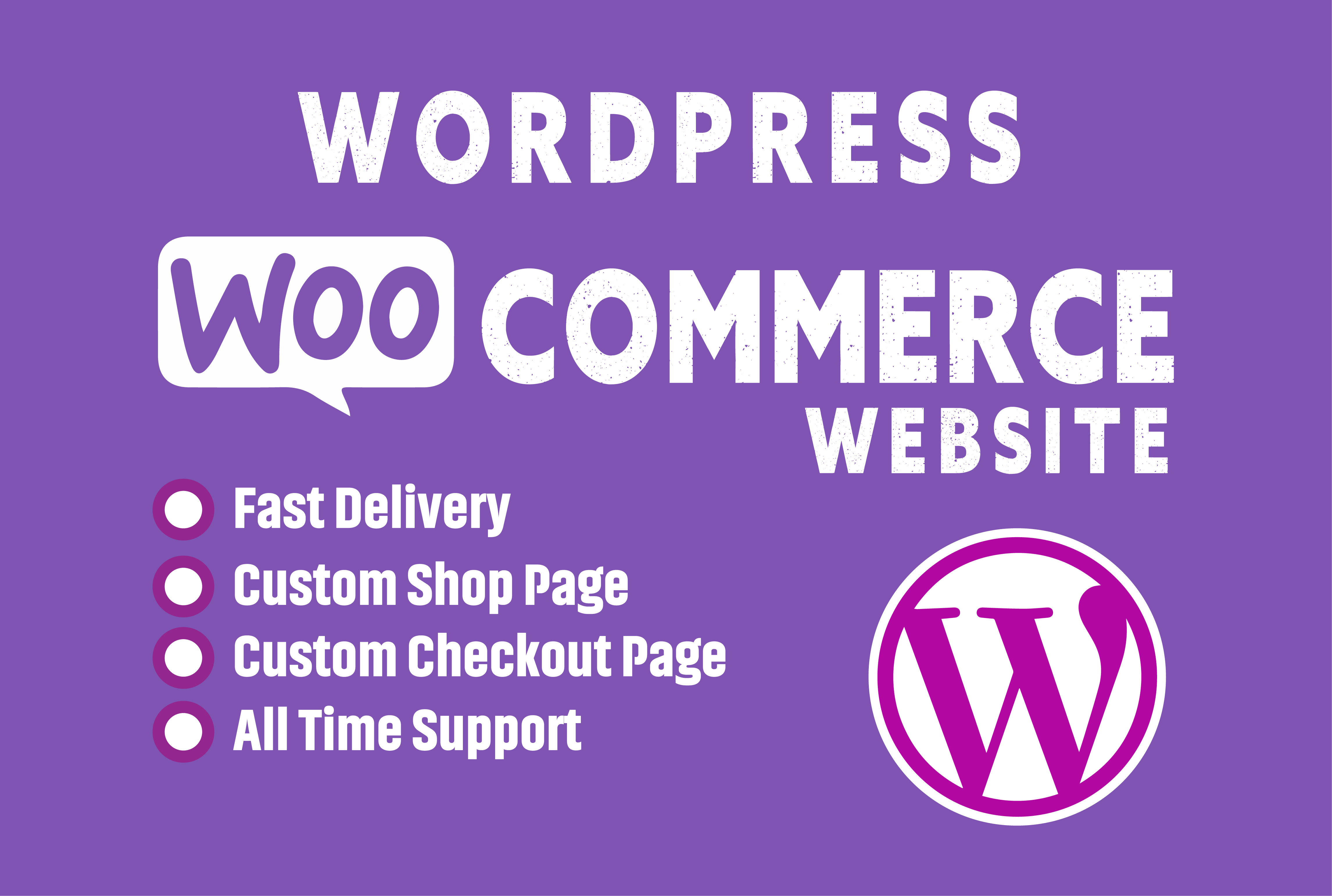 I will build wordpress ecommerce website online store using woocommerce