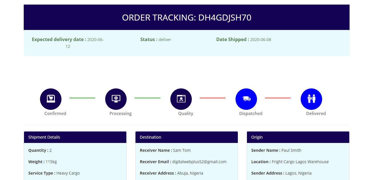 Download Free Courier Management System With Tracking