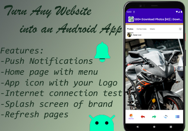 Turn Any Website into an Android APP with PUSH Notifications