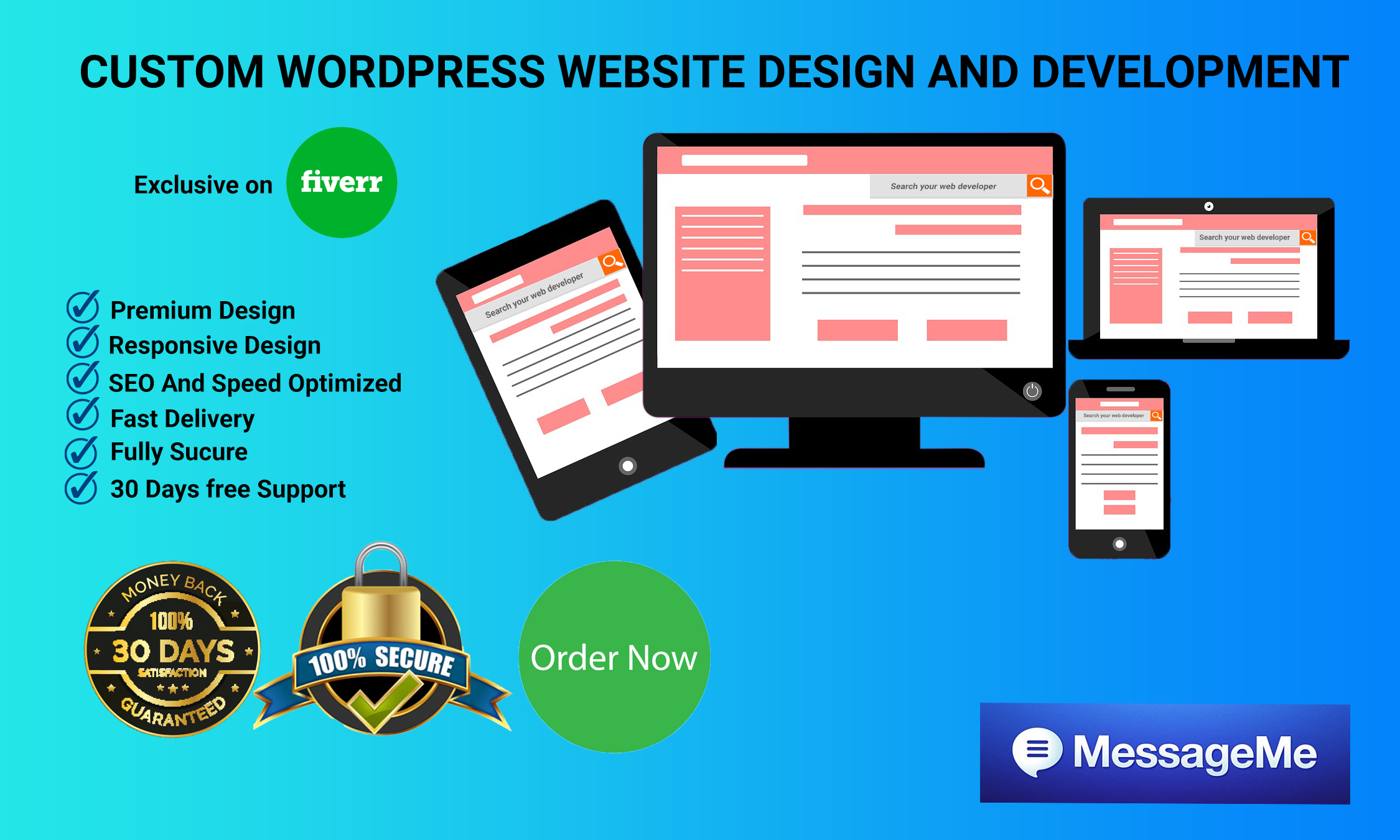 I will design and develop professional wordpress website