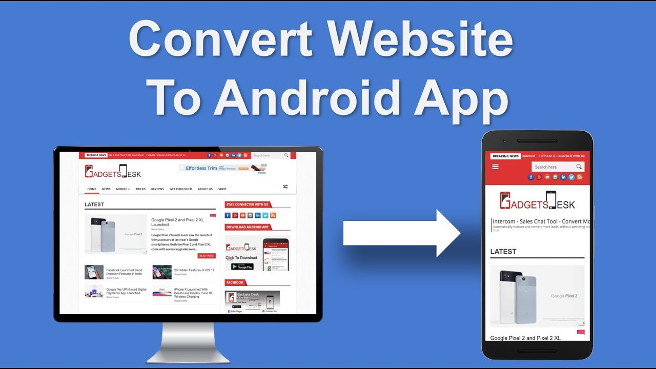I will convert any website to android app using webview