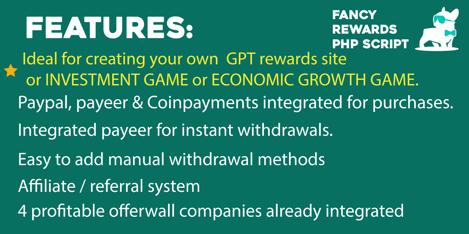 Hyip Fancy Rewards PHP Script: Create your own investment game